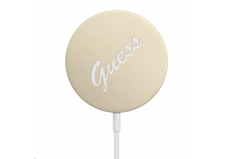 Incarcator Retea Wireless Guess Magnetic Vintage, MagSafe, Quick Charge, 15W, Auriu GUCBMSVSLG