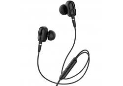 Handsfree Casti In-Ear HOCO Dazzling M62, Cu microfon, 3.5 mm, Negru