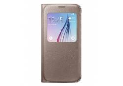 Husa Samsung Galaxy S6 G920 S-View EF-CG920PFEGWW aurie Blister Originala
