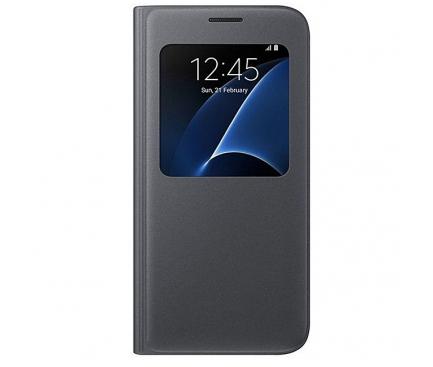 Husa Samsung Galaxy S7 G930 S-View EF-CG930PBEGWW Blister Originala