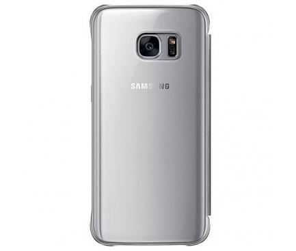 Husa plastic Samsung Galaxy S7 G930 Clear View EF-ZG930CSEGWW Argintie Blister Originala