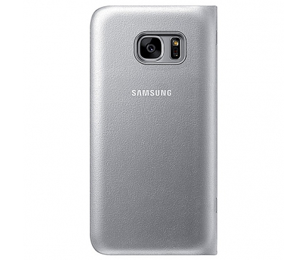 Husa Samsung Galaxy S7 G930 LED View EF-NG930PSEGWW Argintie Blister Originala