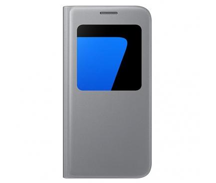 Husa Samsung Galaxy S7 G930 S-View EF-CG930PSEGWW Argintie Blister Originala