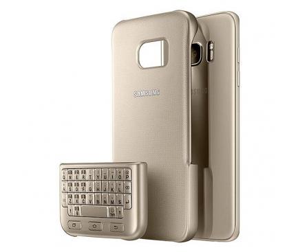 Husa plastic Samsung Galaxy S7 G930 Keyboard Cover EJ-CG930UFEGDE Aurie Blister Originala