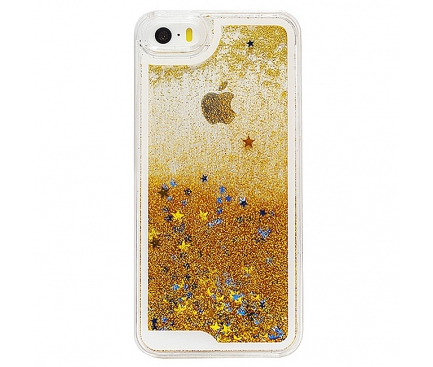 Husa plastic Apple iPhone 5 Glitter aurie