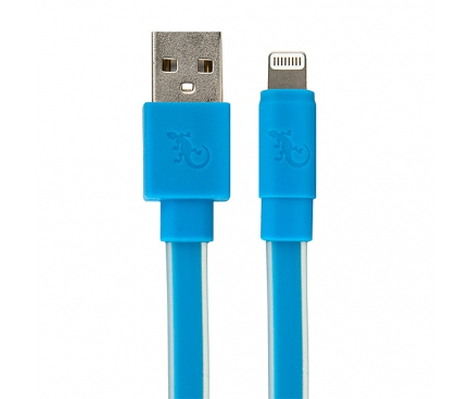 Cablu date Apple iPhone 5 Gecko GG100130 albastru Blister Original