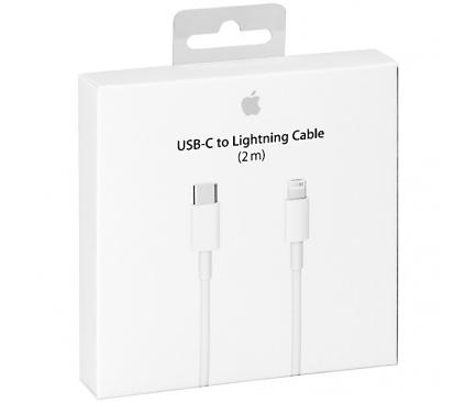 Cablu Date USB Type-C - Lightning Apple iPhone 8 MKQ42ZM 2m Alb Blister Original