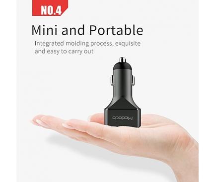 Adaptor auto 3 x USB McDodo CC-222 Gri Blister Original