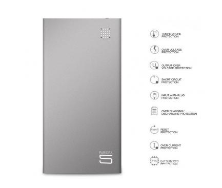 Baterie externa Powerbank Puridea S7 5000mA Gri Blister Originala