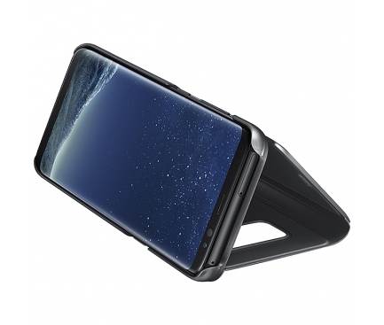 Husa plastic Samsung Galaxy S8+ G955 Clear View EF-ZG955CBEGWW Blister Originala