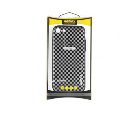 Husa silicon TPU Apple iPhone 7 Remax Gentleman Grid Blister Originala