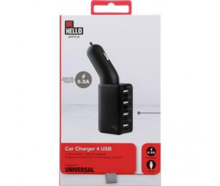 Adaptor auto 4 x USB BeHello 6.8A Blister Original