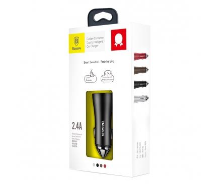 Adaptor auto Dual USB Baseus Golden 2.4A Blister Original