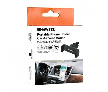 Suport auto universal Haweel Vent Mount HWL-6340R Rosu Blister Original
