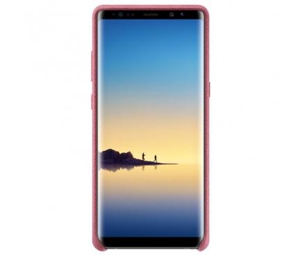 Husa Samsung Galaxy Note8 N950 Alcantara EF-XN950APEGWW Roz Blister Originala