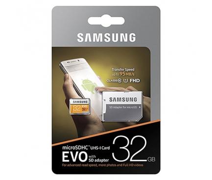 Card memorie Samsung EVO MicroSDHC 32GB Clasa 10 UHS-1 MB-MP32GA/EU Blister