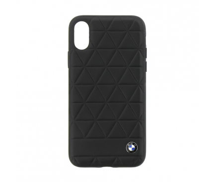 Husa piele Apple iPhone X BMW Hexagon BMHCPXHEXBK Blister Originala