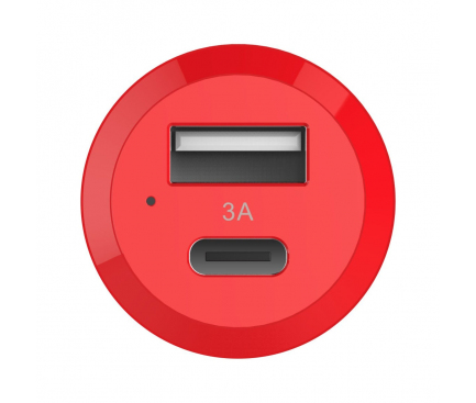 Adaptor auto Dual Port USB - USB Type-C Vinsic HS Blister Original