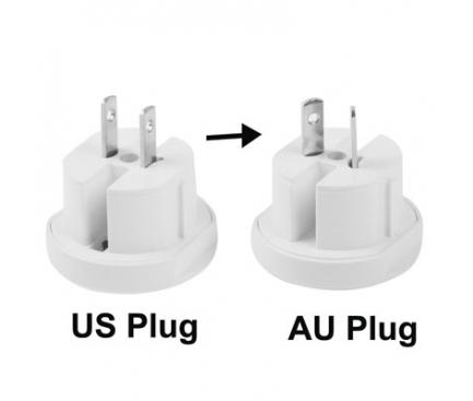 Adaptor priza EU-UK-USA-AUS All in one Alb