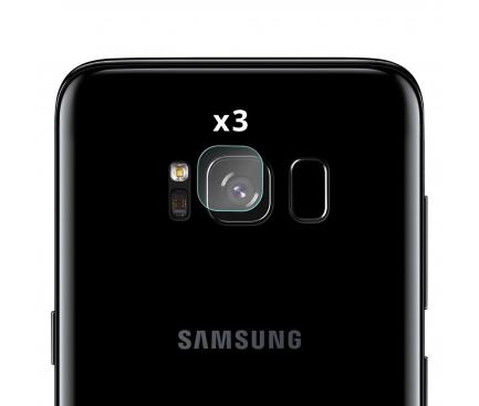 Set Folie Protectie camera Samsung Galaxy S8 G950 (3 bucati) Blister