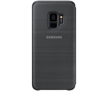 Husa textil Samsung Galaxy S9 G960 LED View EF-NG960PBEGWW Blister Originala