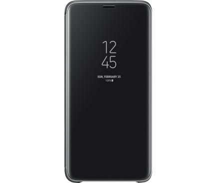 Husa plastic Samsung Galaxy S9 G960 Clear View EF-ZG960CBEGWW Blister Originala