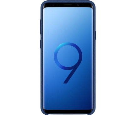 Husa Samsung Galaxy S9+ G965 Alcantara EF-XG965ALEGWW Albastra Blister Originala