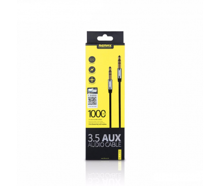 Cablu audio Jack 3.5 mm Tata - Tata Remax 2m alb Blister Original