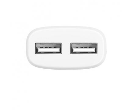 Incarcator retea Dual USB MicroUSB HOCO C12 2.4A Alb Blister Original