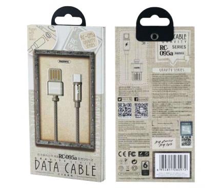 Cablu de date MicroUSB Magnetic Remax RC-095m Gravity 1m Blister Original