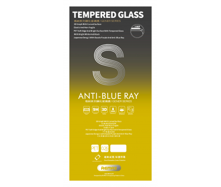 Folie Protectie ecran antisoc Apple iPhone 7 Remax Tempered Glass Full Face Anti Blue Ray Roz Blister Originala