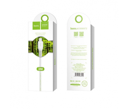 Cablu date MicroUSB HOCO Flash X20 3m Alb Blister