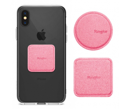 Set sticker magnetic telefon pentru Suport Auto Ringke Roz Blister