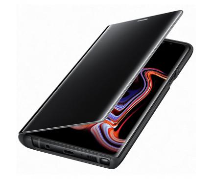 Husa Plastic Samsung Galaxy Note9 N960, Clear View, Neagra, Blister EF-ZN960CBEGWW