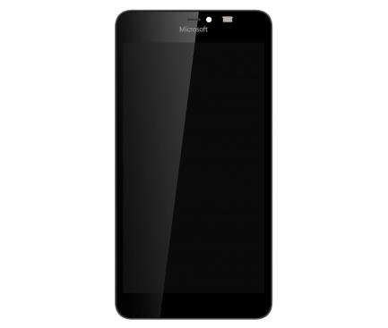 Display - Touchscreen Negru, Cu Rama Microsoft Lumia 640 XL / Microsoft Lumia 640 XL Dual SIM / Microsoft Lumia 640 XL LTE Dual SIM