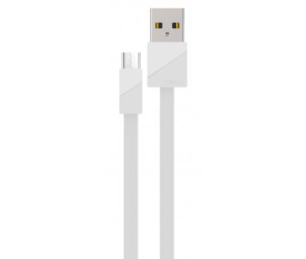 Cablu Date si Incarcare USB la MicroUSB Remax Blade RC-105m, 1 m, Alb, Blister