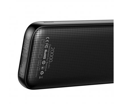 Baterie Externa Powerbank Baseus PPKC-A01 20000 mA, 2 x USB - USB Type-C, Neagra, Blister