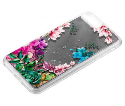 Husa TPU OEM Liquid Mirror Flower pentru Apple iPhone 7 Plus / Apple iPhone 8 Plus, Multicolor, Bulk
