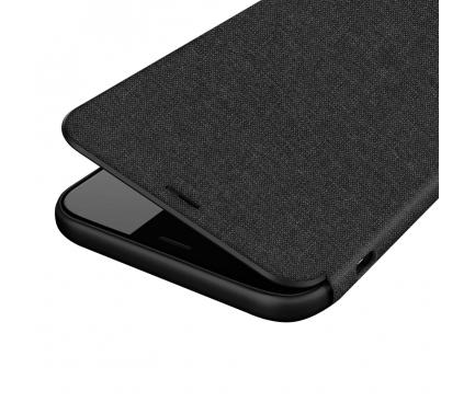 Husa Textil Joyroom Leon pentru Apple iPhone X, Neagra, Blister