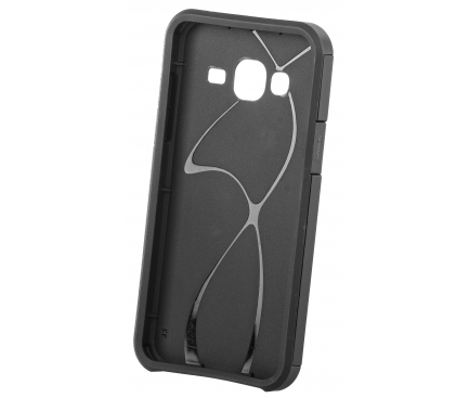 Husa OEM Slim Armor pentru Samsung Galaxy J3 (2016) J320, Neagra, Bulk