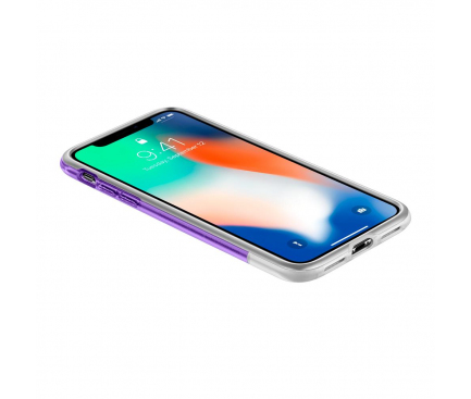 Husa Plastic Spigen Classic C1 pentru Apple iPhone X / Apple iPhone XS, Mov - Transparenta, Blister 057CS24431
