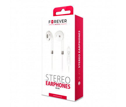 Handsfree Casti In-Ear Forever SE-410, Cu microfon, 3.5 mm, Alb, Blister