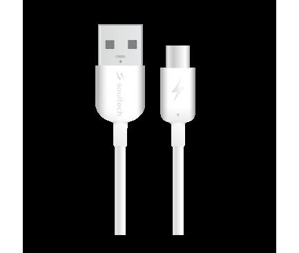 Cablu Date si Incarcare USB la USB Type-C Soultech Comfort DK022B, 1 m, Alb, Blister
