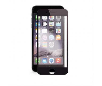 Folie Protectie Ecran Soultech pentru Apple iPhone 7 / Apple iPhone 8, Sticla securizata, Full Face, Platinum EK802S, Neagra, Blister