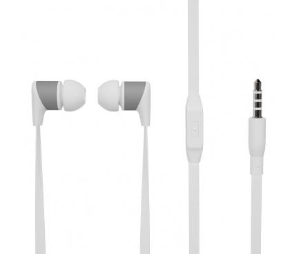 Handsfree Casti In-Ear Soultech Sugar, KK003B, Cu microfon, 3.5 mm, Alb, Blister