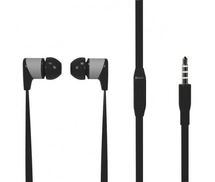 Handsfree Casti In-Ear Soultech Sugar, KK003S, Cu microfon, 3.5 mm, Negru, Blister