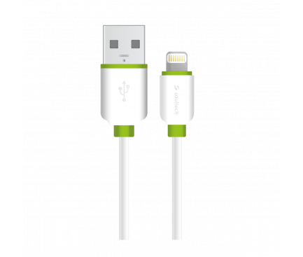 Cablu Date si Incarcare USB la Lightning Soultech Comfort DK032B, 1 m, Alb, Blister