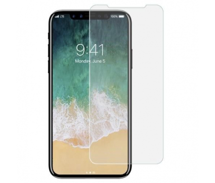 Folie Protectie Ecran Soultech Apple iPhone X, Sticla securizata, Comfort EK918, Blister