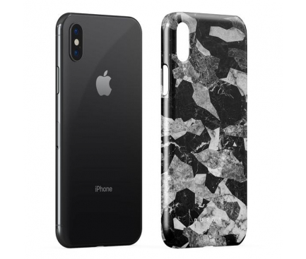 Husa Plastic Burga Black Marble Camo Apple iPhone X, Blister iPX_SP_ML_11