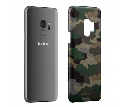 Husa Plastic Burga Tropical Green Camo Samsung Galaxy S9 G960, Blister S9_SP_ML_03